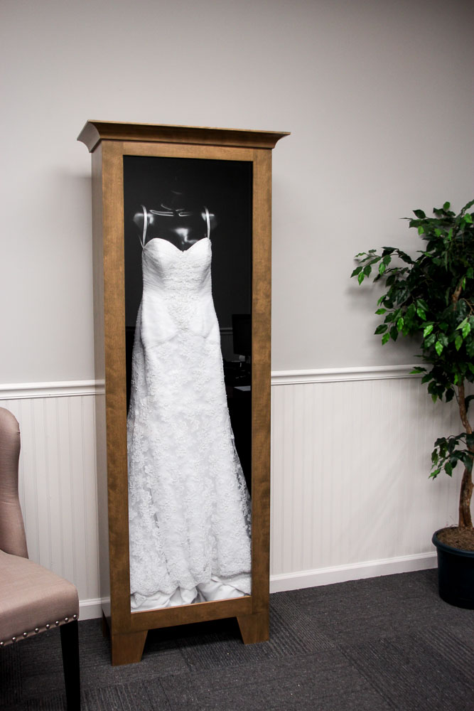 wedding dress shadow box wedding dress display distinctive millworks 9253