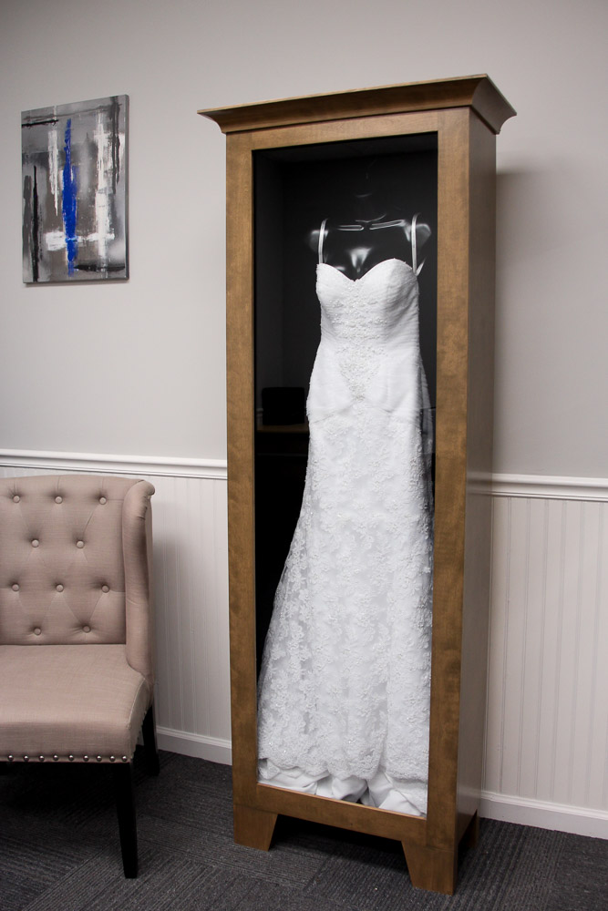WEDDING DRESS DISPLAY CASE - Distinctive Millworks