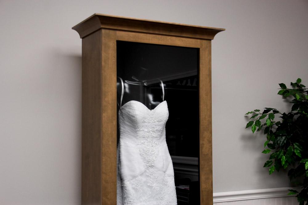 WEDDING DRESS DISPLAY CASE - Distinctive Millworks